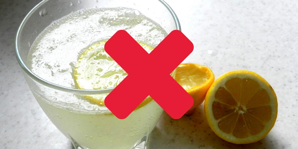 Lemon water is bad for your teeth